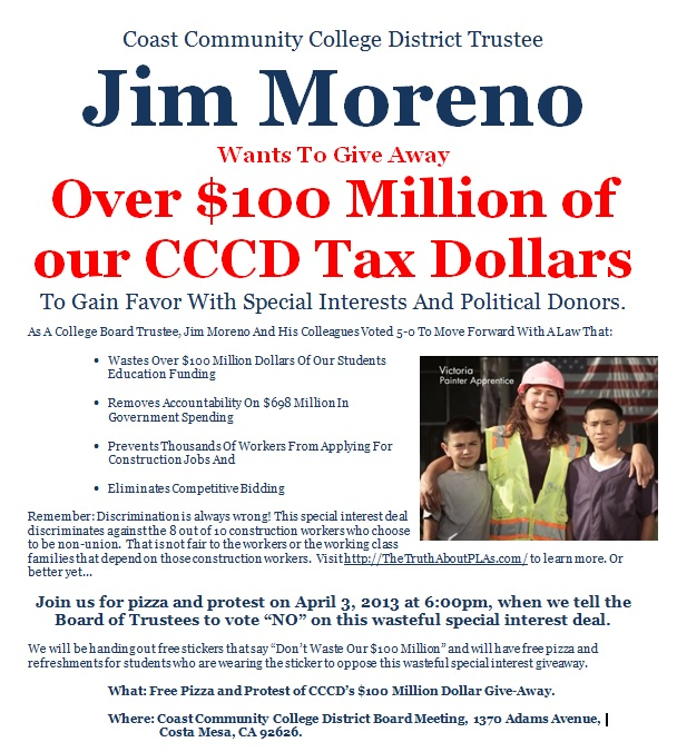 Jim Moreno Wanted To Give $100 million in education funds to his special interest donors.