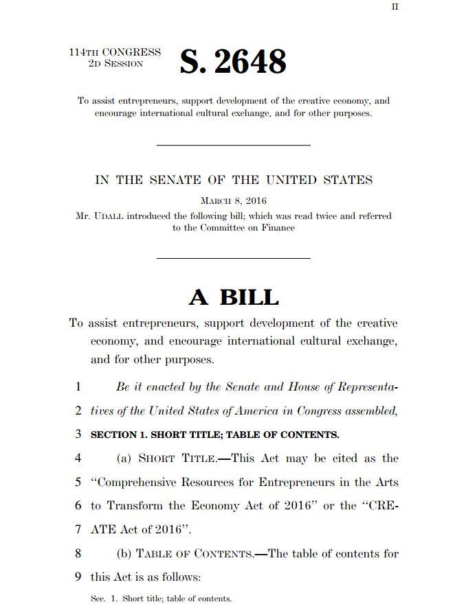 Urge your Senators to Cosponsor the CREATE Act