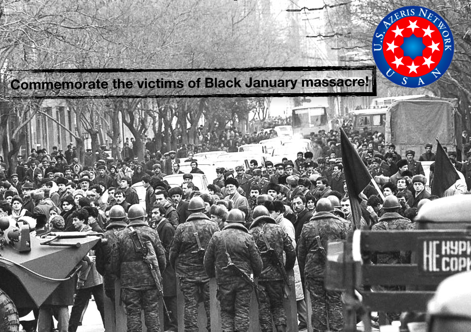 "Azerbaijanis around the world commemorate 28th anniversary of ""Black January"" events"