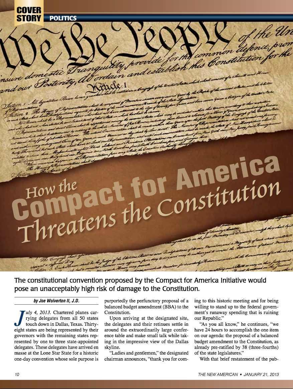 Stop the Compact for America Con-Con Initiative